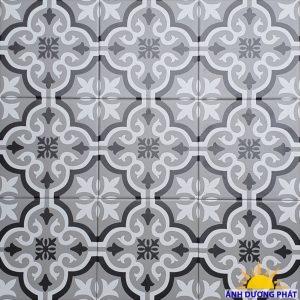 Gạch bông đen trắng ốp tường bếp