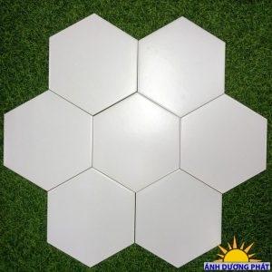 Gạch lục giác trang trí màu trắng mờ