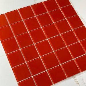 Gạch mosaic màu đỏ