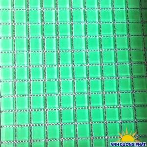 Gạch Mosaic ốp lát bể bơi màu xanh lục