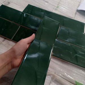 gạch thẻ 75x150 xanh lục bảo 751512