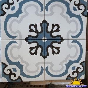 gạch bông porcelain hoa văn đơn sắc