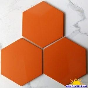 Gạch lục giác lát nền màu cam