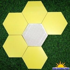 Gạch lục giác ốp tường màu vàng